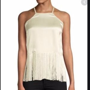 NWT Tracey Reese Fringed Halter Top